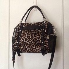 Rebecca Minkoff Handbags - Rebecca Minkoff  Black leather leopard handbag on Poshmark
