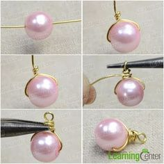 Make Pearl Drop Earrings Many of you may fancy pink pearls. So today I would like to make a pair of pink pearl drop earrings that are full of femininity and elegance. Below is shown the steps about how to make pearl drop earrings. Pearl Drop Earrings, Beaded Earrings, Beaded Jewelry, Amber Jewelry, Silver Jewelry, Single Pearl Necklace, Hoop Earrings, Golden Jewelry, Jewelry Tray
