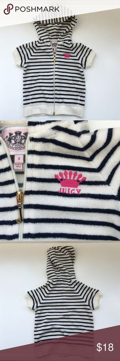 Girl's Juicy Couture hooded jacket Like new condition.from clean, pet and smoke free home. Juicy Couture Jackets & Coats Jean Jackets