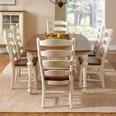 Custom Dining Customizable Boat Shape Table Set by Canadel~ wish it was not white