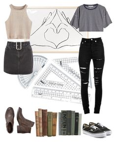 """""""Untitled #58"""" by amymo103 ❤ liked on Polyvore featuring Topshop, T By Alexander Wang, Yves Saint Laurent and Vans"""
