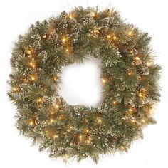 Found it at Wayfair - Glittery Bristle Pine Pre-Lit Wreath