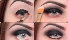 How to Apply Black Eye Shadow