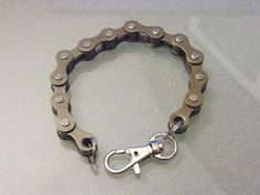 Bike Chain Bracelet Gunmetal Black by BeachBMXDesigns on Etsy, $7.00