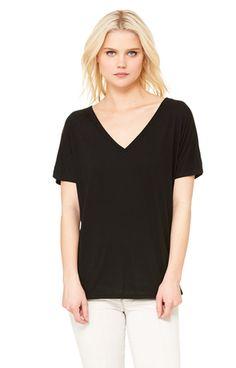 Bella+Canvas 8815 Ladies' Slouchy V-Neck T-Shirt - JiffyShirts.com