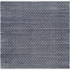 Boston Navy (Blue) 8 ft. x 8 ft. Square Area Rug