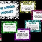 Zebra Themed Writing Process Posters:PrewritingDraftingRevisingEditingPublishingThese will be a cute addition to any classroom!!!**These ...