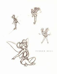 """Tinkerbell From """"Walt Disney's Peter Pan: The Sketchbooks Series"""""""