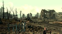 abandoned apocalyptic town (fallout 3)