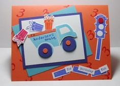 Truck Load of Gifts Birthday Card by Barb Mann - Cards and Paper Crafts at Splitcoaststampers