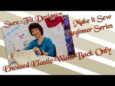 Tutorial 17 Beginning Sewing Series Make it Sew – Sewing Encased Elastic...