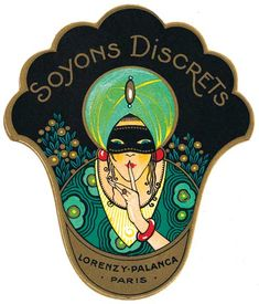 Soyons Discrets Blank Greeting Card | Vintage Beauty Ads Anytime Greeting Cards
