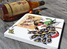 Snake bite Peacock  Sailor Jerry Flash by MissOhDarling on Etsy