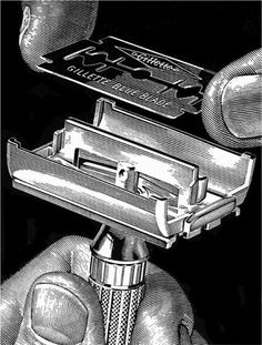 This is what a razor looked like....