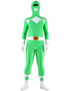 Power Rangers Green Ranger Classic Muscle Adult Costume, Superhero Costumes, Catsuits & Zentai