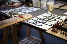 Minotaure cow leather eyewear: work in progress.