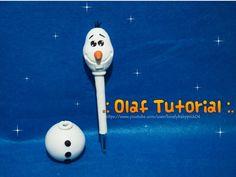 DIY Olaf Frozen / Cold porcelain easy pen holder / LBP Tutoriales