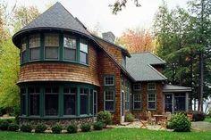 Pretty unique wood cottage