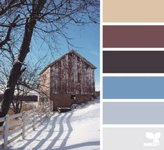 winter hues | design seeds colors for dining room maybe - they are peaceful