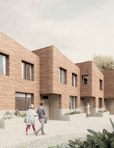 Social housing, Daubeney Road – Al Jawad Pike Social Housing Architecture, Brick Architecture, Architecture Visualization, Architecture Graphics, Architecture Drawings, Residential Architecture, Habitat Groupé, New Housing Developments, Piscina Interior