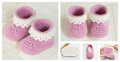 You can crochet beautiful baby booties as a gift or for your own little one with the Pink Lady Baby Booties Free Crochet Patterns. They are easy.