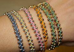 Braided Bead Bracelet / Single Wrap by estellage on Etsy, $12.00