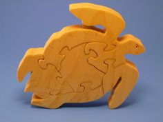 Scroll Saw Wooden Sea Turtle Puzzle Wood Handmade by WoodAnimals, $20.00