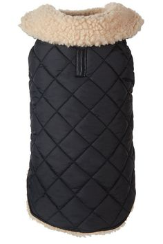 Fabdog Black Quilted Shearling Jacket   #dogs #style #fashion #coats #winter #coats