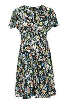MATERNITY Retro Floral Dress