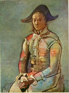 Seated harlequin (Jacinto Salvado)  Artist: Pablo Picasso  Completion Date: 1923