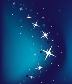 Abstract Blue Vector Background with Stars