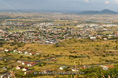 Photos and pictures of: View of Ladysmith from the battlefield site Wagon Hill, South Africa - The Africa Image Library Kwazulu Natal, African History, Places Ive Been, South Africa, Dolores Park, Landscape, Pictures, Photos, Monuments