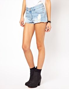 Image 4 of Glamorous Distressed Denim Shorts