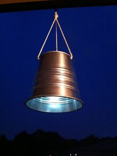 Tin Can Hanging Solar Lights