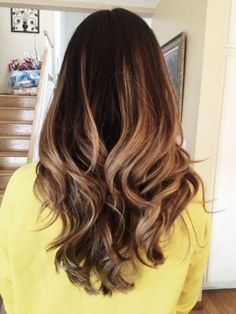 Ombre Hair Color for Dark Hair - Long Hairstyle Color Ideas 2015