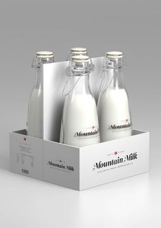 Mountain Milk packaging by Anders Drage. Amazing piece of work which amazed me so much in last days. I wish this to be realized! Made in Norway.