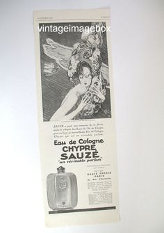 SAUZE CHYPRE perfume advert original 1929 paper by VintageImageBox, £3.95