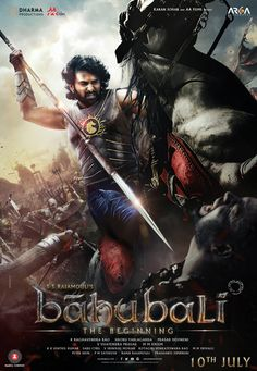 Exclusive new poster of #Baahubali. Releasing on 10th July.