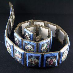 Silver enamel persian belt by RareAndCurio on Etsy, $475.00