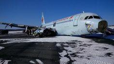 Air Canada runs off runway in Nova Scotia 3/29/15
