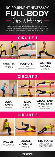 Full-Body Circuit. No equipment