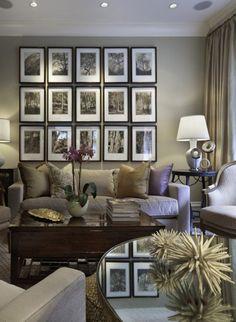 Gray Living Room Interior Design Ideas - Living Room