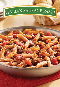 Try this easy Italian Sausage Pasta dinner recipe that only takes one skillet to make!