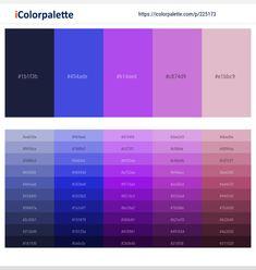 Lavender Color Scheme, Purple Color Schemes, Dark Color Palette, Orange Color Palettes, Magenta, Hex Color Codes, Hex Codes, Persian Blue, Color Lila