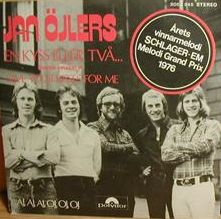 """Jan Öjlers - """"En kyss eller tva"""", swedish cover version of """"Save Your Kisses For Me"""", the winning song of the Eurovision Song Contest 1976 by Brotherhood of Man for the United Kingdom"""