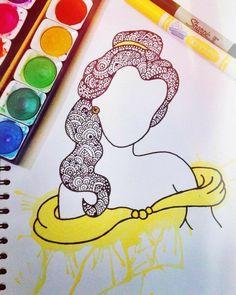 Disney Drawings Sketches, Art Drawings Sketches Simple, Easy Drawings, Flower Drawings, Sharpie Drawings, Sharpie Art, Sharpie Projects, Sharpie Doodles, Mandala Art Lesson