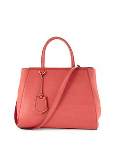 2Jours Leather Tote Bag, Pink by Fendi at Neiman Marcus. 2350