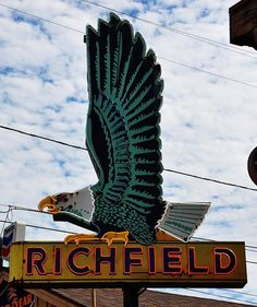Richfield eagle neon sign