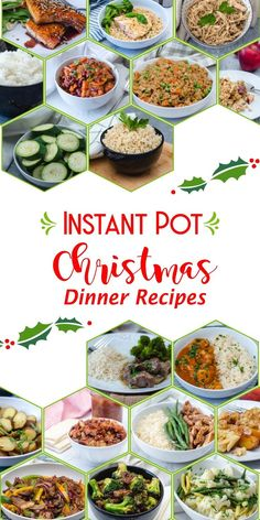 Instant Pot Christmas Dinner Recipes More than 30 true and tried Instant Pot Recipe for Christmas or any holiday! Use your these pressure cooker recipes for an amazing dinner for the whole family! Healthy Christmas Recipes, Easy Dinner Recipes, Holiday Recipes, Healthy Recipes, Holiday Foods, Family Recipes, Best Pressure Cooker Recipes, Instant Pot Pressure Cooker, Pots