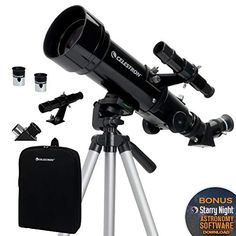 Celestron - Travel Scope - Portable Refractor Telescope - Fully-Coated Glass Optics - Ideal Telescope for Beginners - BONUS Astronomy Software Package - PhotoMania - Camera, Photo & Video Experts Celestron Telescopes, Distance Focale, Constellations, Sabre Laser, Refracting Telescope, Ciel Nocturne, Astronomical Telescope, Support Telephone, Home Camera